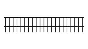 Iron Fence Dog Bars