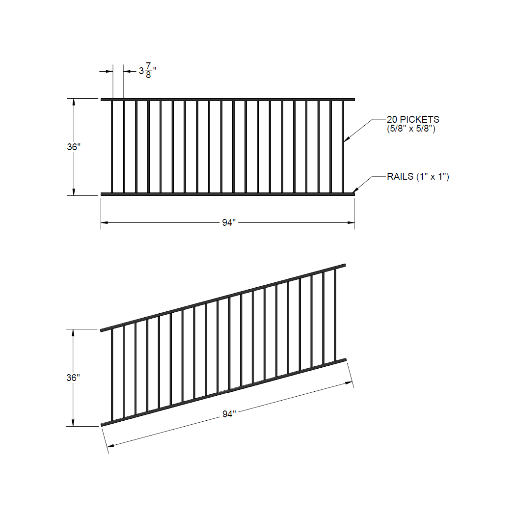 Panel Fence On Slope on landscaping diagrams