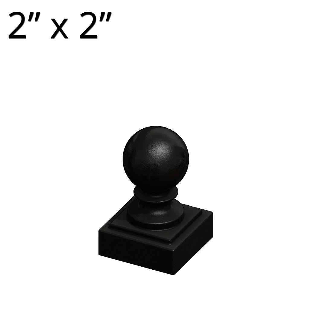 """Cast Iron Ball Fence Finial Square Post Caps For 4 x 4/"""" Posts"""