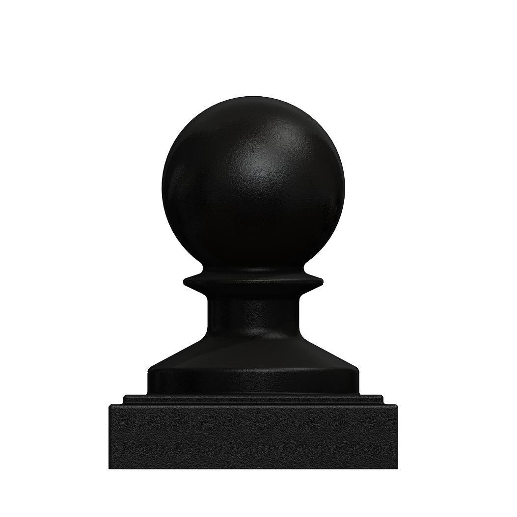 Cast iron post cap ball style ″