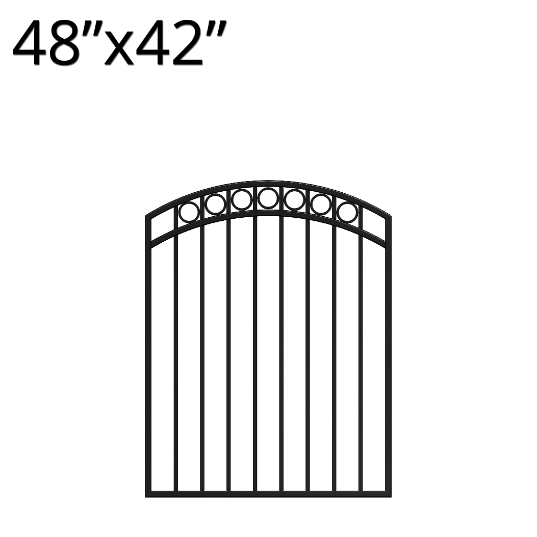 Iron Gate - Arched - 48