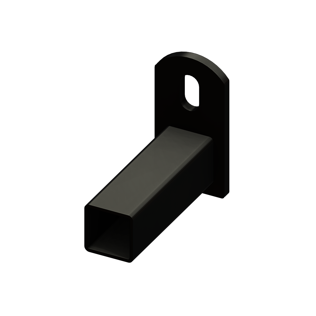 Iron Fence Panel Mounting Bracket For 1 X 1 Rails