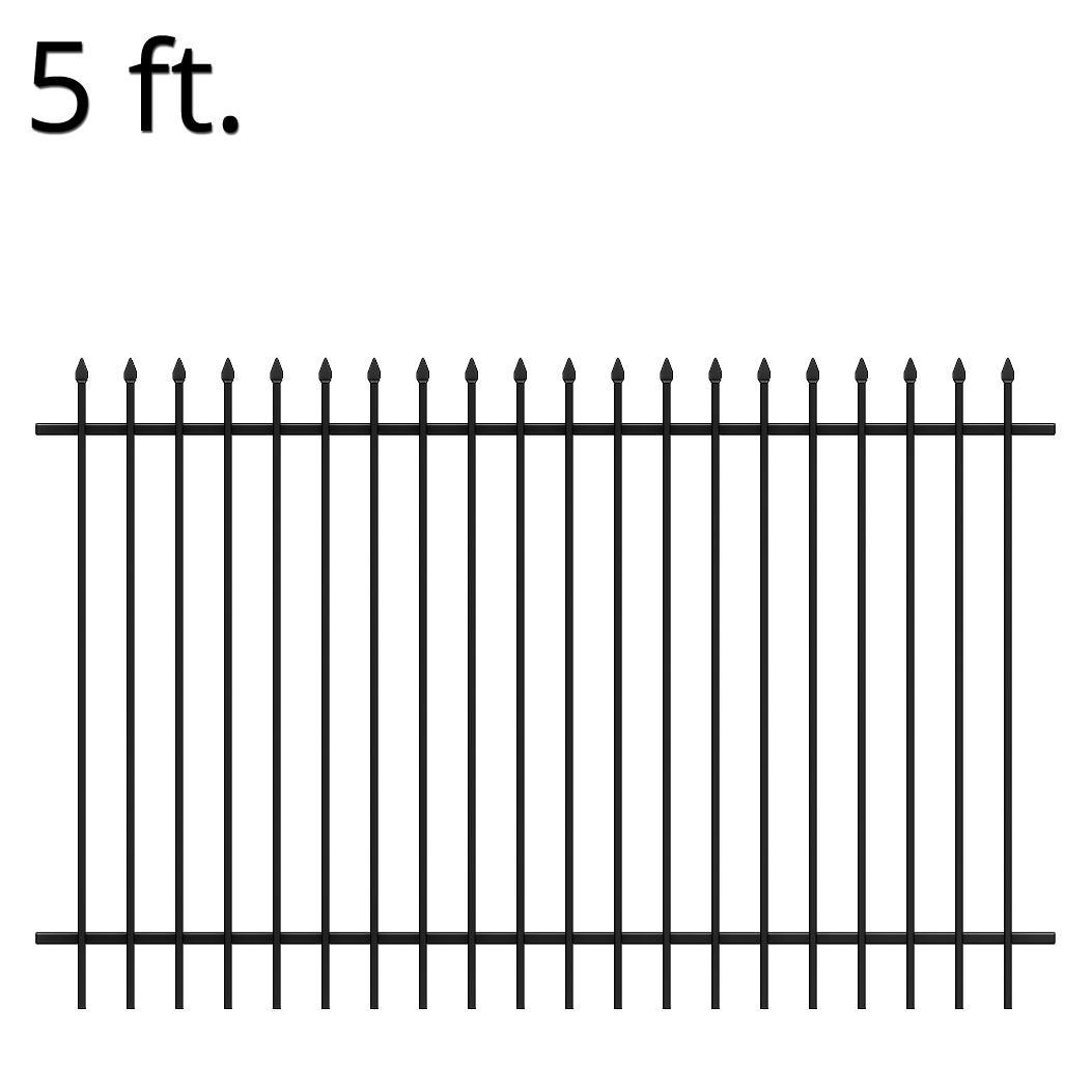 Iron Fence Panels >> Iron Fence Panel 60 X 94 Summit