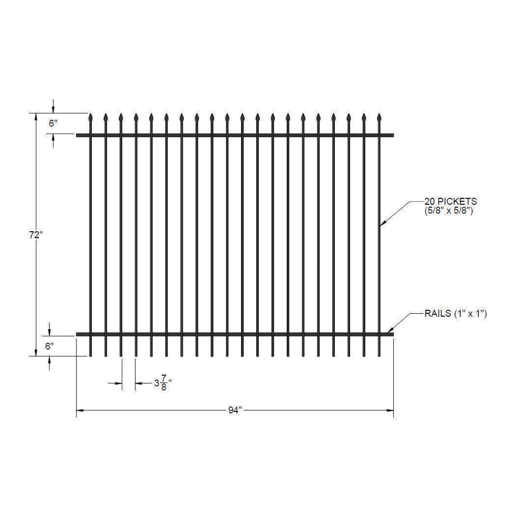 Iron fence panel 72 x 94 summit baanklon Choice Image