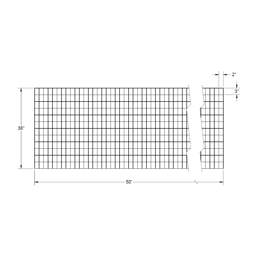 Welded Wire Mesh Roll – 36″ x 50′